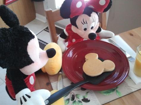 Mickey and Minnie pancakes